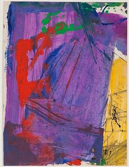 Untitled (Color Abstraction) (c. 1950), Franz Kline