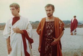 Adriano Aprà e Ennio Lauricella em Othon (1970), Danièle Huillet e Jean-Marie Straub